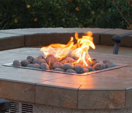 Natural River Rock - Black (for fire features) 50lb Bag 1'-2' Stones , Outdoor Fire Features,  europe, Bull europe limited, bull bbq europe