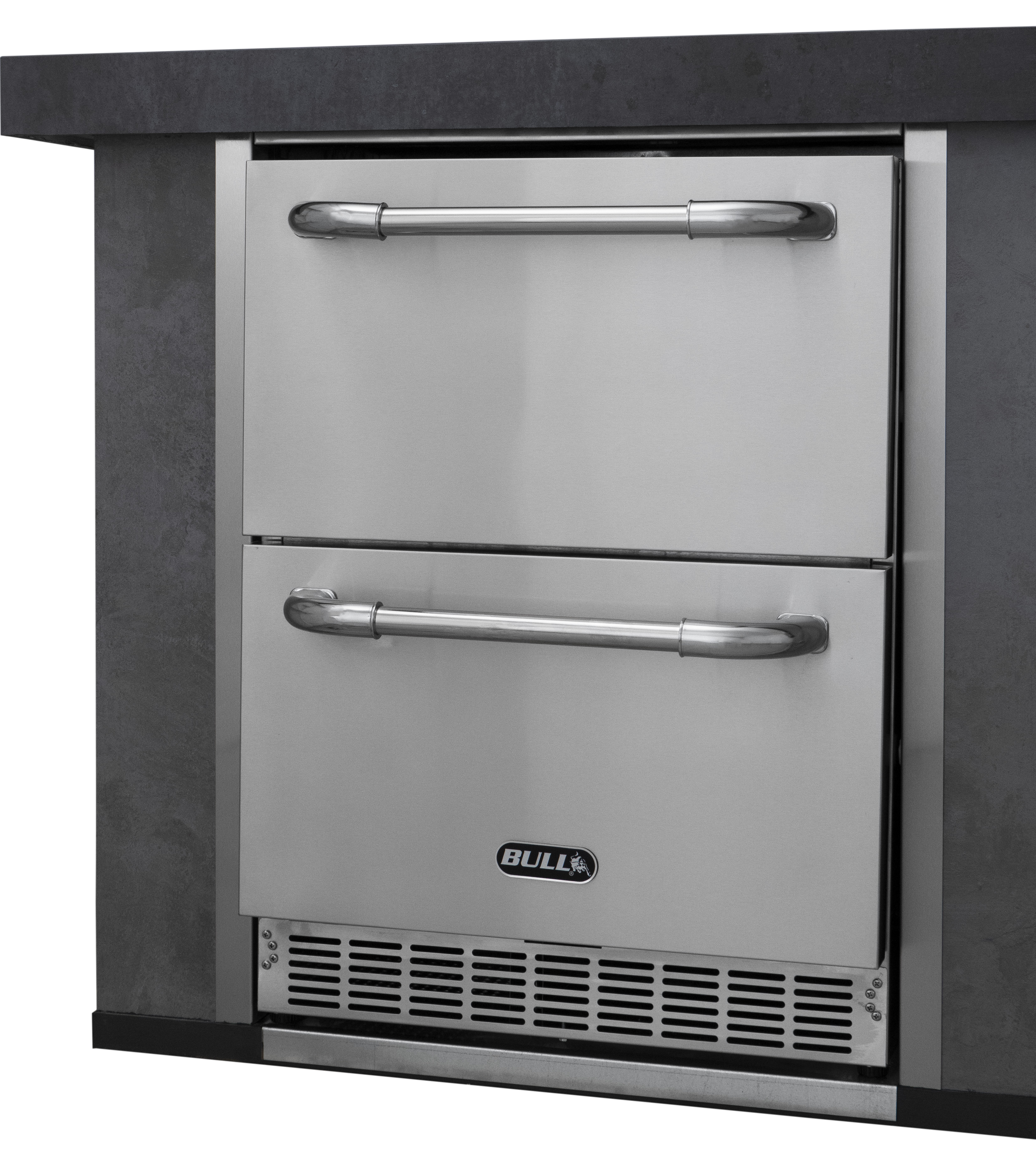 Premium Double Drawer Outdoor Rated Refrigerator , BBQ Components ,  europe, Bull europe limited, bull bbq europe