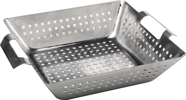 Stainless Steel Square Wok / 30cm (SLT style) , BBQ Accessories,  europe, Bull europe limited, bull bbq europe
