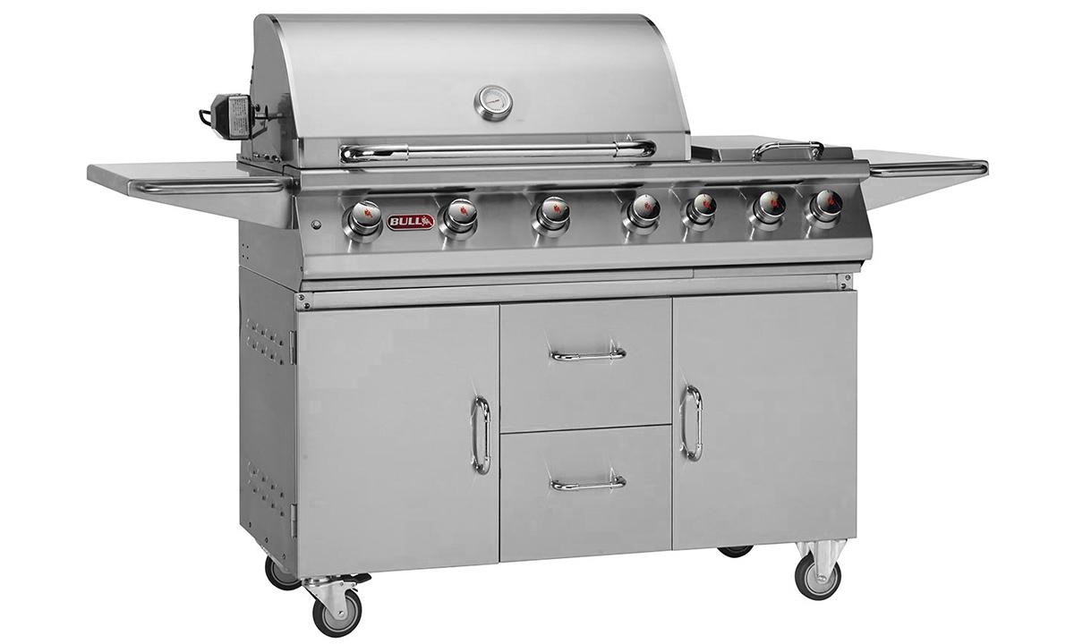 Bull  Premium 7 Burner Gas Barbecue Cart  , BBQ Carts,  europe, Bull europe limited, bull bbq europe
