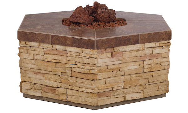 Hexagon Fire Pit w/propane access door , Outdoor Fire Features,  europe, Bull europe limited, bull bbq europe