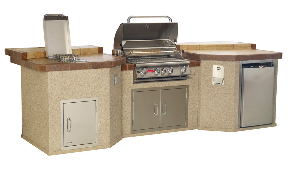 Bull Mega - Q Outdoor Kitchen Island , Outdoor Kitchens,  europe, Bull europe limited, bull bbq europe
