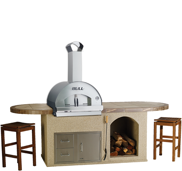 Bull Pizza - Q Outdoor Kitchen Island   , Outdoor Kitchens,  europe, Bull europe limited, bull bbq europe